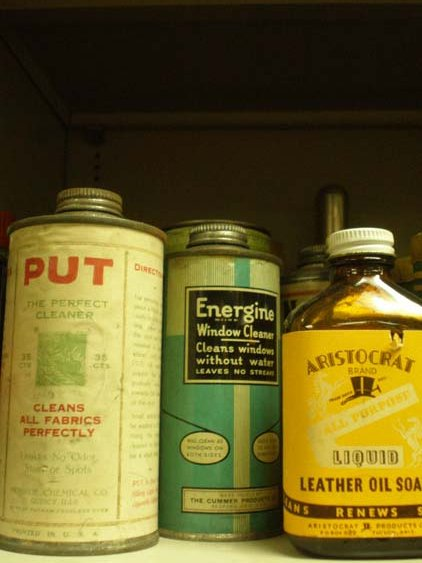 Antique Home Cleaners on Display at the History of Pharmacy Research Center, Pharmacy Museum