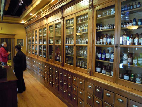 Display Cases at The History of Pharmacy Research Center