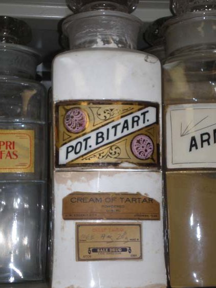 Antique Apothecary Spice Jar - Cream of Tartar