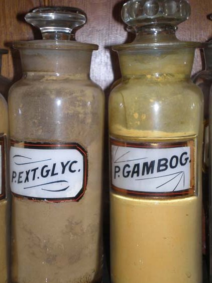 Antique Pharmacy/Apothecary Jars with Original Contents